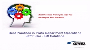 Create a Proactive Parts Department