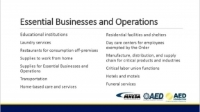 COVID-19 Update: Are Equipment Distributors Essential?